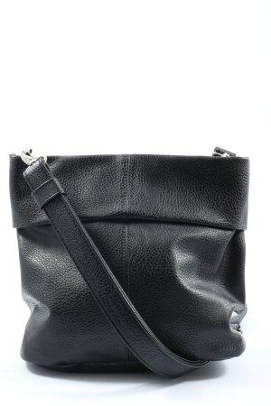 Zwei Umhängetasche schwarz Motivdruck Casual-Look