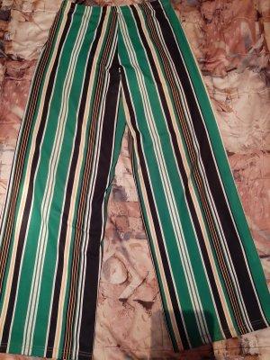 primarkt Pantalon pattes d'éléphant violet-vert forêt