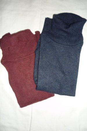 Avanti Wollen trui karmijn-donkerblauw Wol