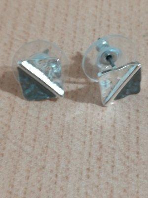 Ear stud silver-colored-grey