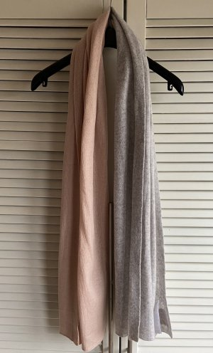 81hours Bufanda de cachemir gris claro-albaricoque