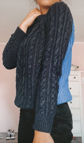 Topshop Knitted Sweater dark blue-blue