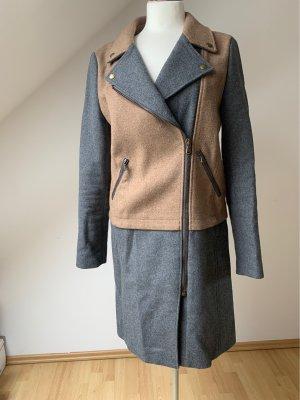 Oui Manteau en laine multicolore