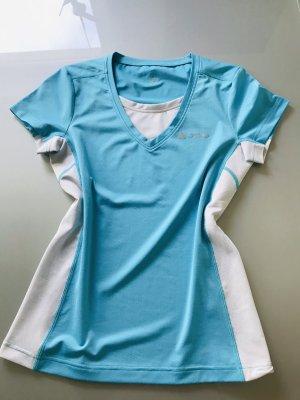Odlo Maglietta sport bianco-azzurro Poliestere