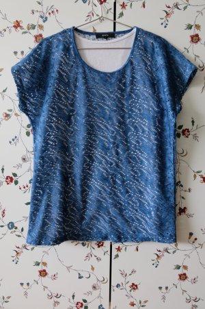 Bonita T-Shirt white-blue viscose