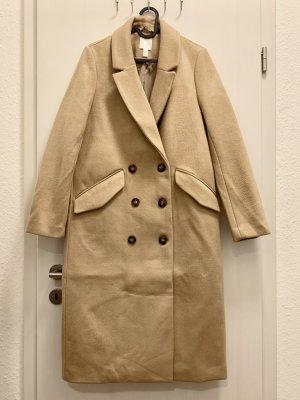H&M Winter Coat beige mixture fibre