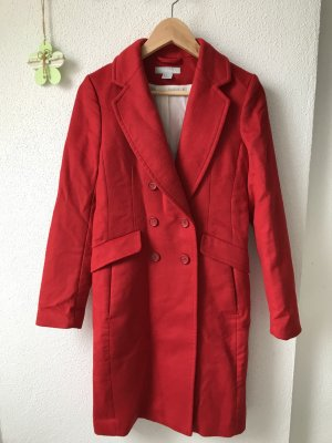 H&M Cappotto in lana rosso Lana