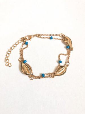 Anklet gold-colored-turquoise