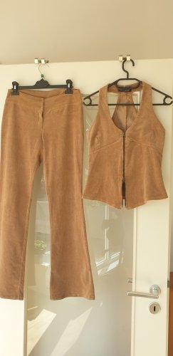 Pantalone a zampa d'elefante beige
