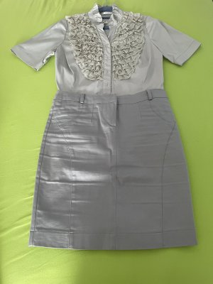 Orsay Kostium jasnoszary-srebrny