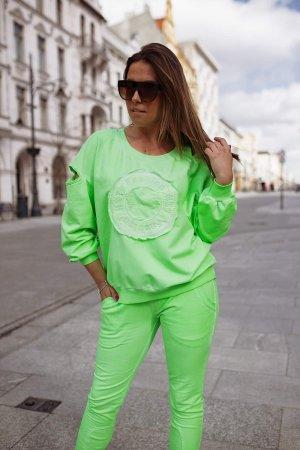Bastet Garnitur damski zielony neonowy