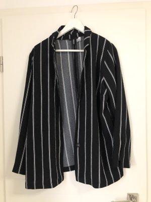 H&M Pantalón de vestir negro-blanco