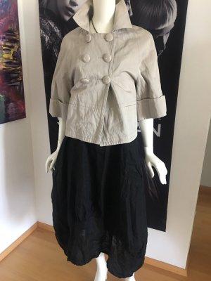 Zweiteiler ital Designer Jacke und maxirock Tulpen Rock schwarz 40/42