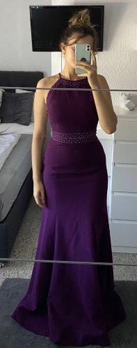 Robe de bal violet-violet foncé