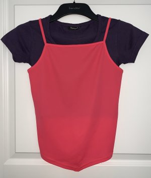 Madonna Basic topje donkerpaars-roze