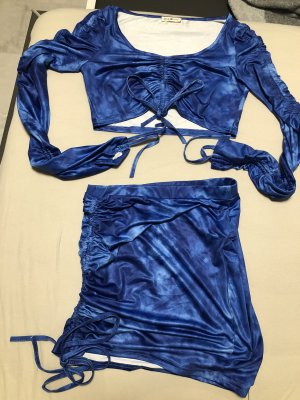 La Costume Ensemble en jersey bleu