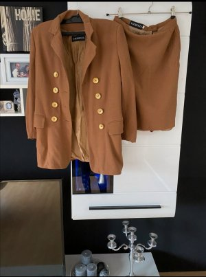 Laurenza Tuxedo Blazer cognac-coloured