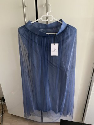Made in Italy Jupe en tulle bleuet viscose