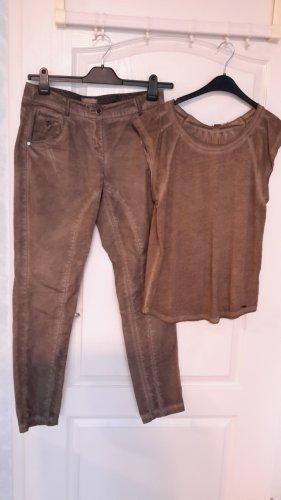 s.Oliver Pantalon d'équitation bronze coton