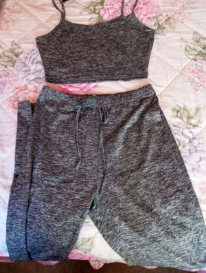 Woven Twin Set grey