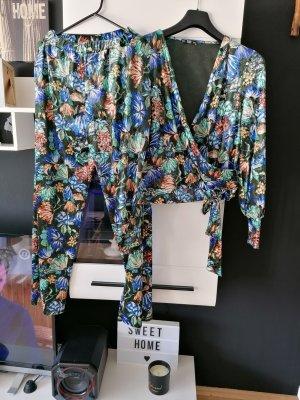 Zweitele Set von Zara, Samt, Blumenmuster, Größe S