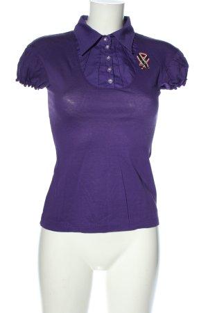 Zweitracht Trachtenhemd lila Casual-Look