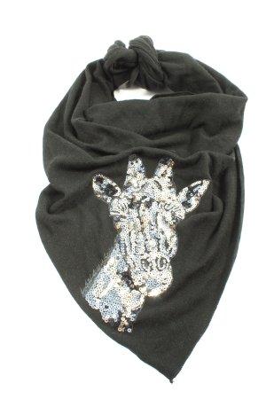 Zwillingherz Châle au tricot noir moucheté style décontracté