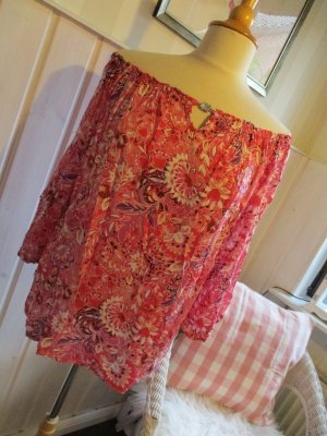 Zwillingsherz Carmen blouse magenta-roze Viscose