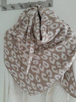Zwillingsherz Wollen sjaal beige