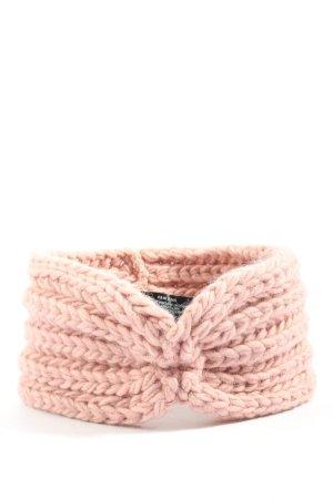 Zwillingsherz Oorwarmers roze kabel steek casual uitstraling