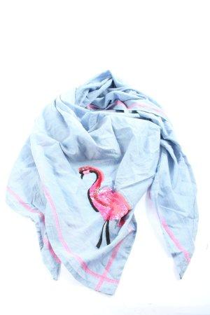 Zwillingsherz Foulard bleu-rouge motif animal style décontracté