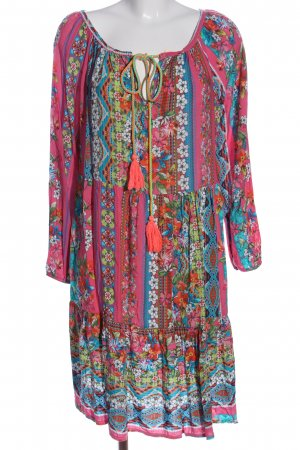 Zwillingsherz Hippiejurk abstract patroon casual uitstraling