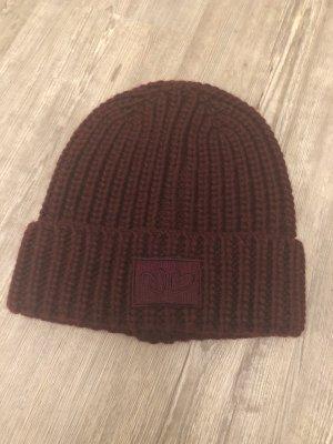 Zwillingsherz Knitted Hat bordeaux