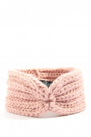 Zwillingsherz Earmuff pink cable stitch casual look