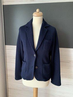 Zwillingsherz Knitted Blazer dark blue cotton