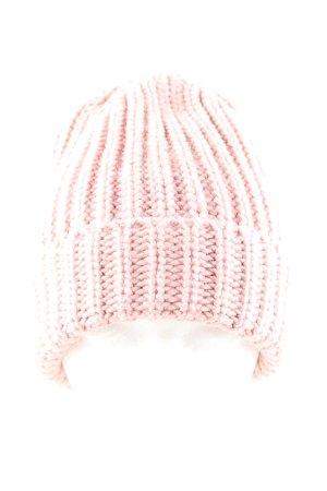 Zwillingsherz Sombrero de punto rosa punto trenzado look casual