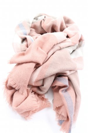 Zwillingsherz Knitted Scarf pink-blue striped pattern casual look
