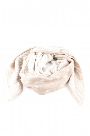Zwillingsherz Knitted Scarf cream-white allover print casual look