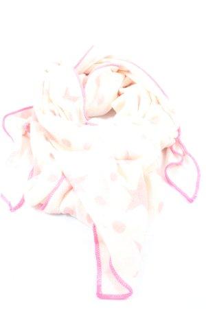 Zwillingsherz Bufanda de punto blanco puro-rosa look casual