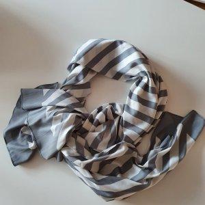 Zwillingsherz Écharpe en soie blanc-gris