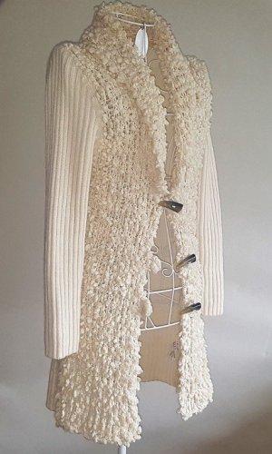 oui Moments Chaleco de punto largo blanco puro tejido mezclado