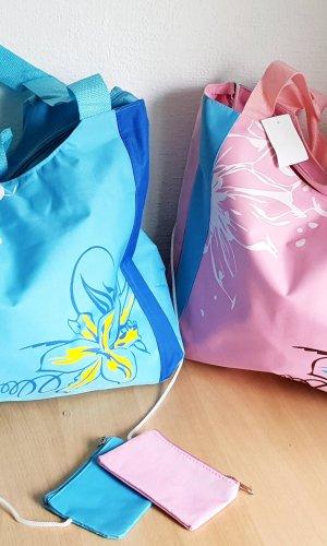 Bolsa de la compra rosa-azul