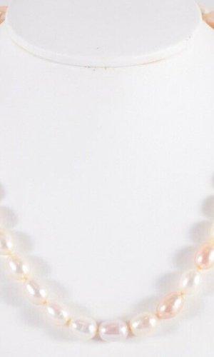750 Gold Perlenkette  18k Gold Schließe Collier Perlen Perlencollier