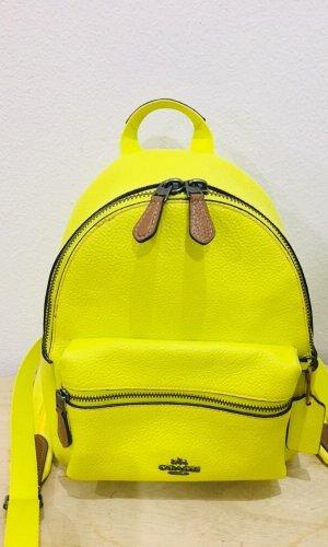 Coach Sac à dos pour ordinateur portable jaune fluo