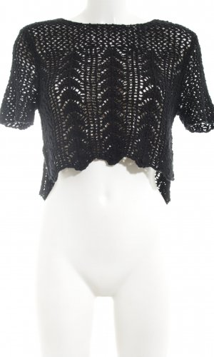 Abercrombie & Fitch Gehaakt shirt zwart casual uitstraling