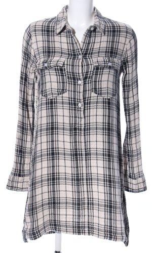 Abercrombie & Fitch Robe chemise noir-blanc motif à carreaux style d'affaires