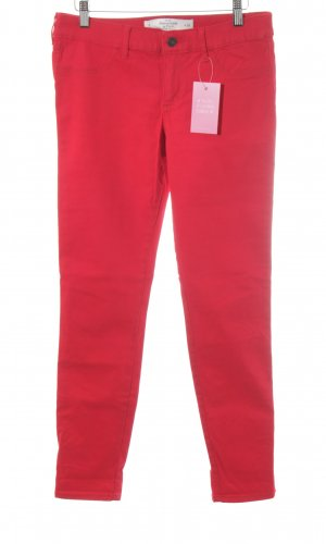 Abercrombie & Fitch Röhrenhose rot Casual-Look