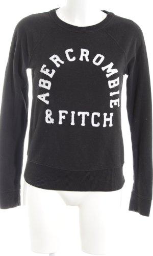 Abercrombie & Fitch Suéter negro letras bordadas look casual