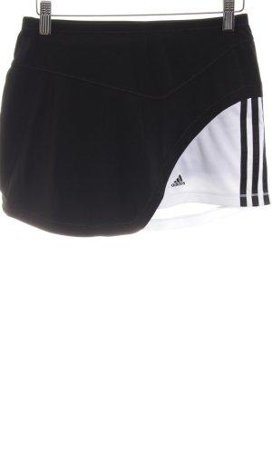 Adidas Broekrok zwart-wit atletische stijl