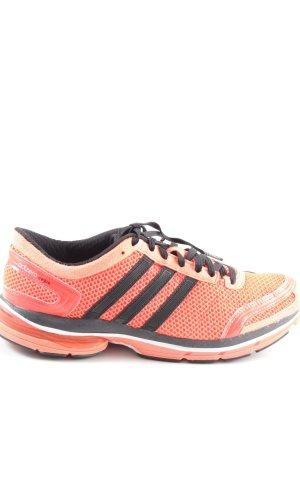 Adidas Schnürsneaker hellorange-schwarz sportlicher Stil